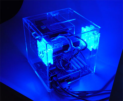 "A ""cube computer"" the author designed and built in 2002"
