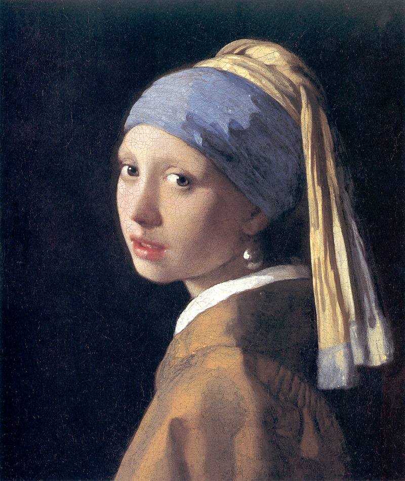 "Vermeer's ""Girl With A Pearl Earring"". I chose this because Vermeer was a master with light and realism, and this was one of his masterworks. It was painted around 1665."