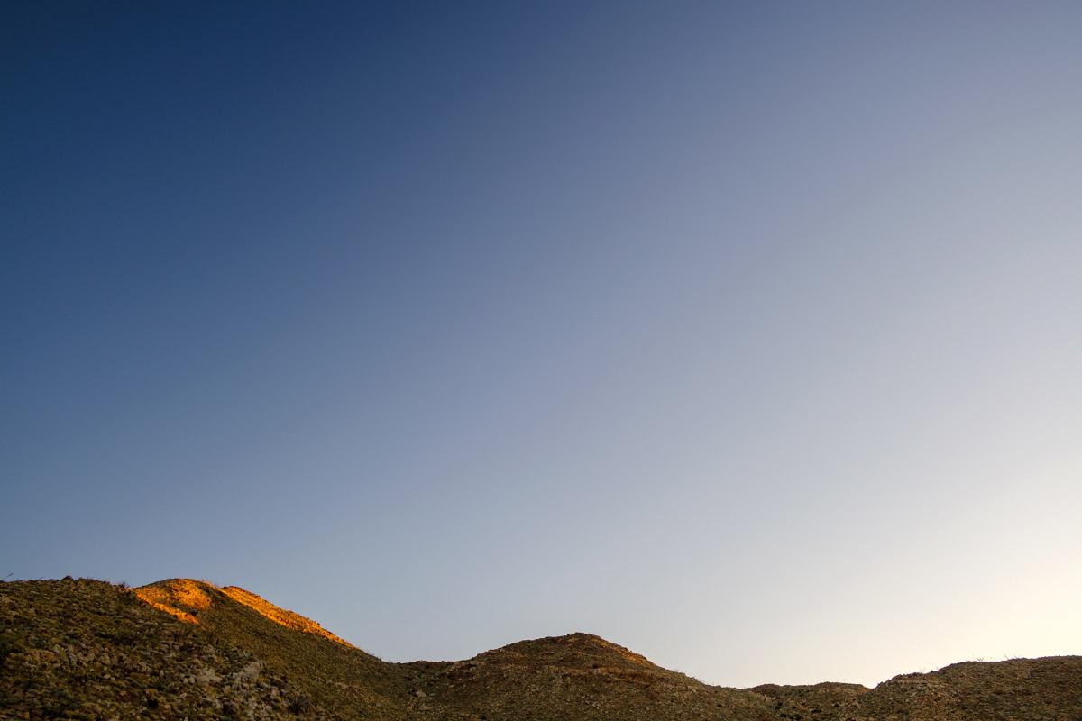 Desert Sunrise on Hill, ©2020 Eric Platt