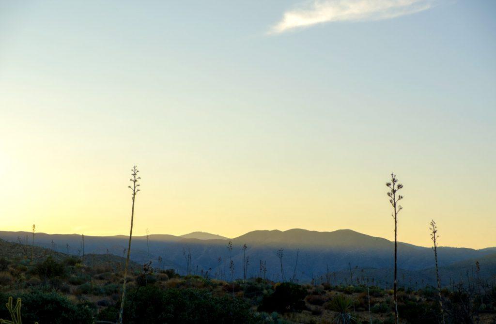 Sunset, Hazy Desert image